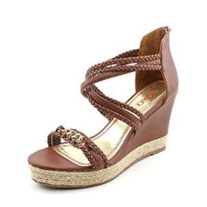 XOXO Womens Platform Sandals, Chestnut, Size